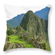 Machu Picchu - Iconic View Throw Pillow