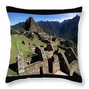 Machu Picchu Residential Sector Throw Pillow
