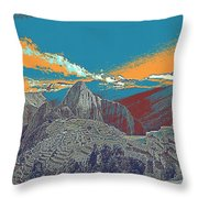 Machu Picchu Travel Poster Throw Pillow