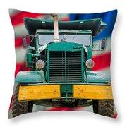 Mack Dump Truck Throw Pillow