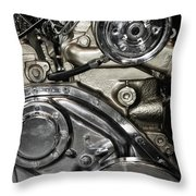 Mack Truck Display Engine Throw Pillow