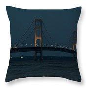 Mackinac Bridge - 1 Throw Pillow