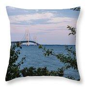 Mackinac Bridge 1 Throw Pillow