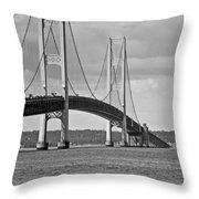Mackinac Bridge 6111 Throw Pillow