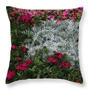 Mackinac Bridge Overlook Garden 2 Throw Pillow