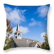 Mackinac Island Church Throw Pillow