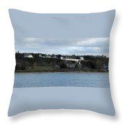 Mackinac Island Panorama Throw Pillow