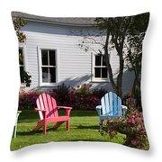 Mackinac Island Relaxation Throw Pillow