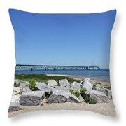 Mackinaw Bridge 2 Throw Pillow