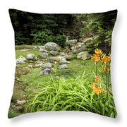 Mackinaw City Park Throw Pillow