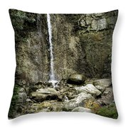 Mackinaw City Park Waterfalls 1 Throw Pillow