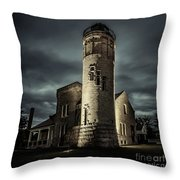 Mackinaw Point Lighthouse Throw Pillow