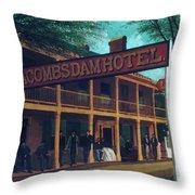 Macomb's Dam Hotel Throw Pillow