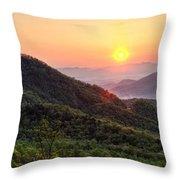 Macon County North Carolina Mountains Throw Pillow