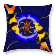 Macrachantis V1 - Colourful Fish Throw Pillow