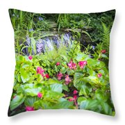 Macro Forest Throw Pillow