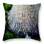 Macro Mushroom Throw Pillow