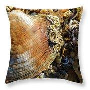 Macro Shell Throw Pillow