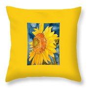 Macro Sunflower Art Throw Pillow