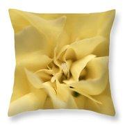 Macro Yellow Rose Throw Pillow