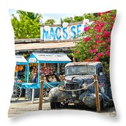 Mac's Sea Garden II On Key West Florida Throw Pillow