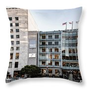 Macy's Union Square San Francisco Building Throw Pillow