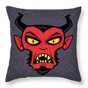 Mad Devil Throw Pillow