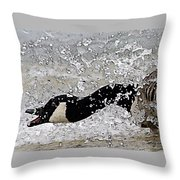 Mad Goose Throw Pillow