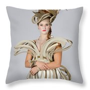 Isabel In Mad Hutter Throw Pillow