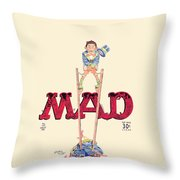 Mad Magazine Cover Throw Pillow