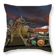 Mad Max Creater Motorcycle Throw Pillow