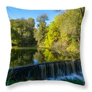 Mad River Waterfall Throw Pillow