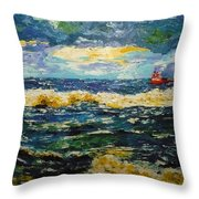 Mad Sea Throw Pillow