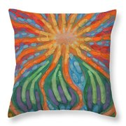Mad Sun Throw Pillow