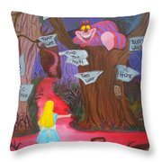 Mad To The Bone Throw Pillow