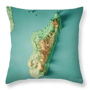Topographic Map Of Madagascar.Madagascar 3d Render Topographic Map Color Digital Art By Frank Ramspott