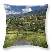 Madagascar Village Throw Pillow