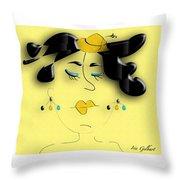 Madam 2 Throw Pillow