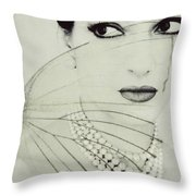Madam Butterfly - Maria Callas  Throw Pillow