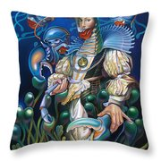 Madame Clawdia D'bouclier From Mask Of The Ancient Mariner Throw Pillow