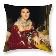 Madame De Senonnes Throw Pillow by Ingres