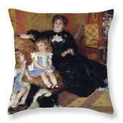 Madame Georges Charpentier Throw Pillow