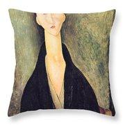 Madame Hanka Zborowska Throw Pillow by Amedeo Modigliani