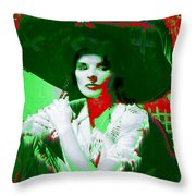 Madame Kate And The Big Hat Throw Pillow