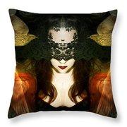 Madame Mayhem Throw Pillow