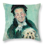 Madame Paul Throw Pillow