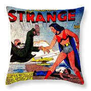 Madame Strange Female Comic Super Hero Throw Pillow