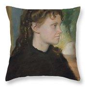 Madame Theodore Gobillard Yves Morisot, 1838-1893 , Edgar Degas French, Paris 1834-1917 Paris Throw Pillow