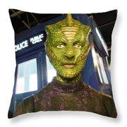 Madame Vastra Throw Pillow