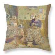 Madame Vuillard Sewing Throw Pillow